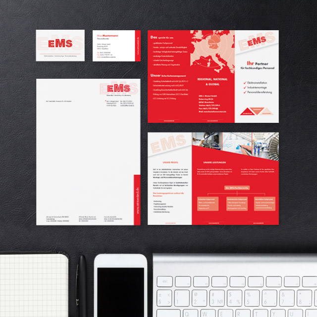 Referenz Design, neues Corporate Design EMS J. Wetzel GmbH
